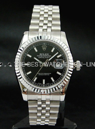 Rolex Datejust 116234-72200 Black Dial Men Automatic Replica Watch