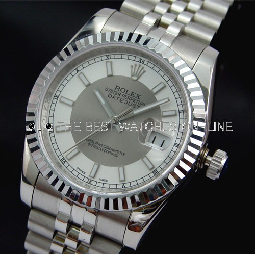 Rolex Datejust 116234 White and Silver Dial Men Automatic Replica Watch