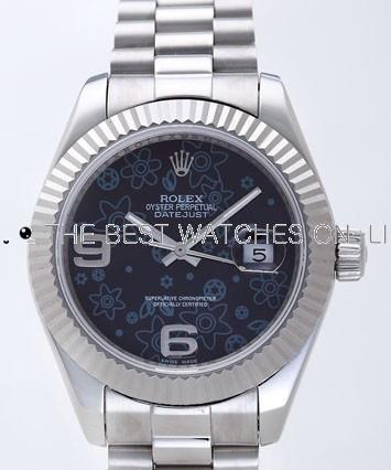 Rolex Datejust II Replica Watches Black Dial RX4121