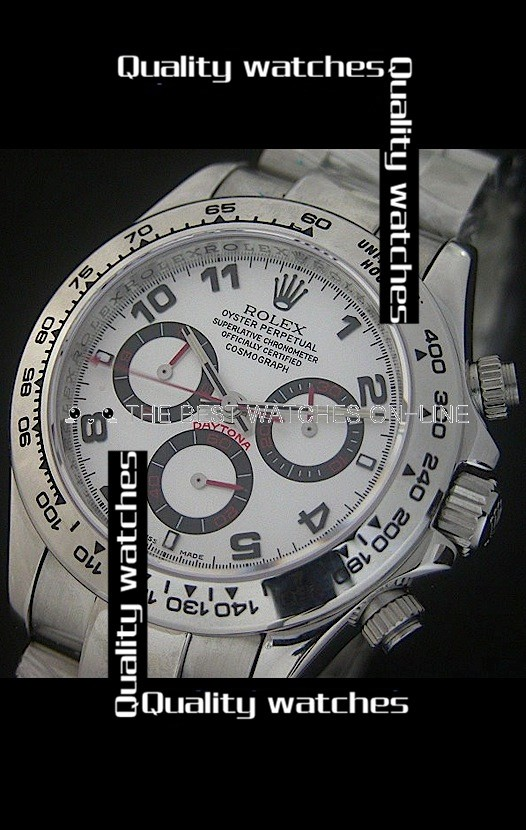 Swiss Rolex Cosmograph Daytona White Dial Black Arabic numerals Automatic Replica Watch
