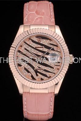 Swiss Rolex Datejust 116135 Diamonds Dial Ladies Automatic Replica Watch