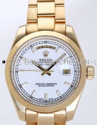 Rolex  Day-Date II Replica Watches  White Dial RX41116