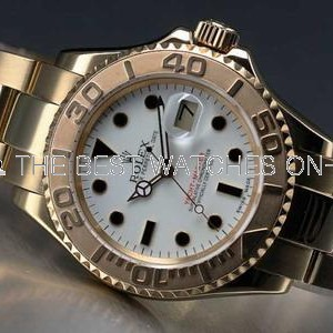 Rolex Yacht-Master Automatic Watch Yellow Gold White Dial