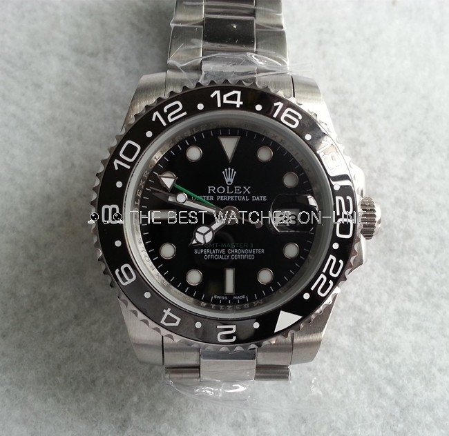Replica Rolex GMT-Master II Automatic Watch 116710LN Green Hand 40mm