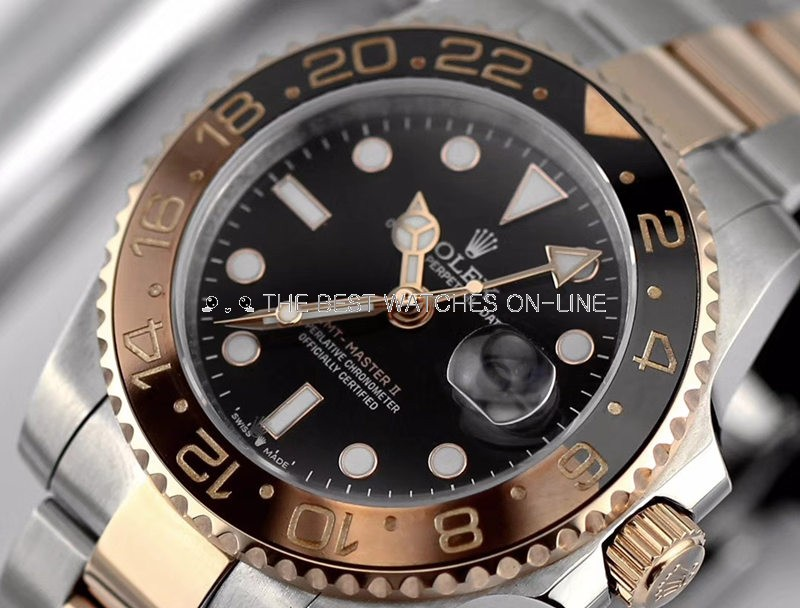 Replica Rolex GMT-Master II Swiss Watches Gold 126711CHNR-0002 40mm (High End)