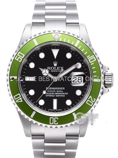 Swiss Rolex Submariner 16610LV-93250 Green bezel 50th Anniversary (Super Model)