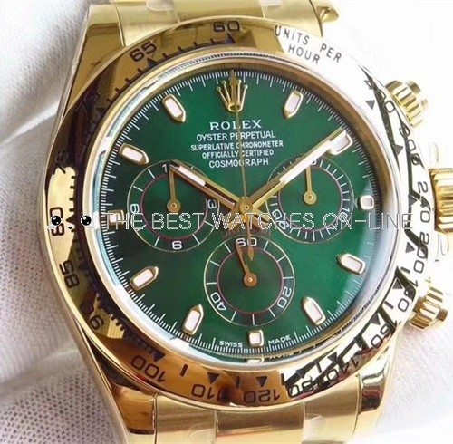 Rolex Daytona Swiss Cal.4130 Replica Watch Green Dial 40mm (Super Model)