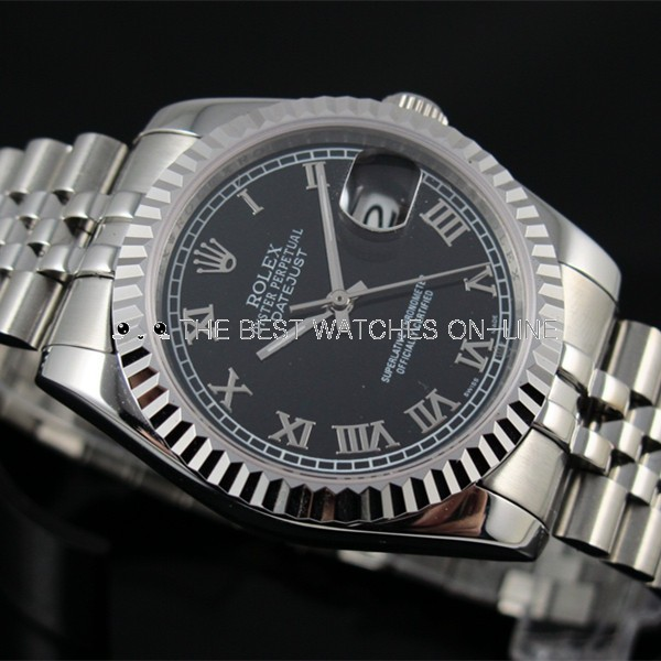 Rolex Datejust Black dial Roman numerals 116234-0086 Automatic Replica Watch