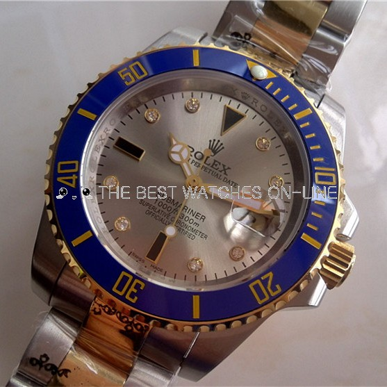 Rolex Submariner Gray Dial Diamonds Markers
