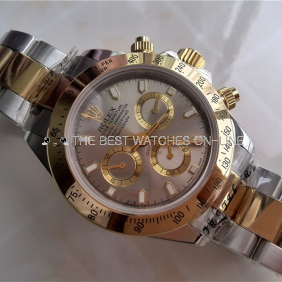 Swiss Rolex Daytona Replica Watch Gray Dial Two Tone (High End)