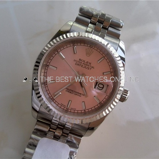 Rolex Datejust 36MM ETA3135 Movement Watch Pink Dial (Super Model)