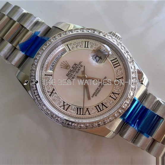 Rolex Day-Date Replica Diamond Watch Roman Number 36mm (High End)