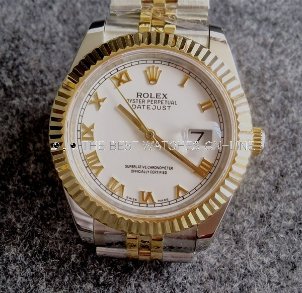 Rolex Datejust Mens 126233-0029 White dial Roman numerals Automatic Replica Watch