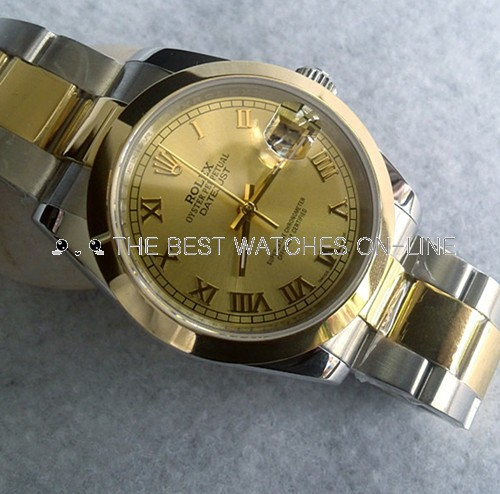 Rolex Datejust Mens 116203 Golden dial Roman numerals  Automatic Replica Watch