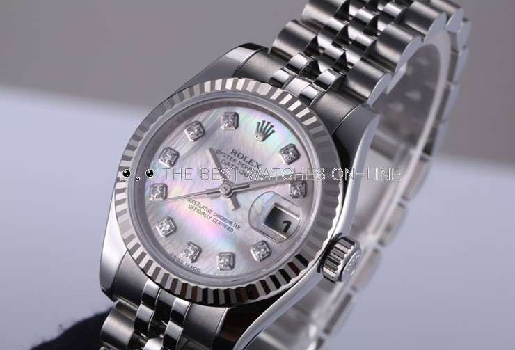 Replica Rolex Datejust Ladies Swiss Watches 178274-0042 MOP Dial 31mm(High End)