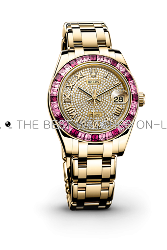 Swiss Rolex Datejust Ladies 81348SARO 18K Yellow Gold Strap with Diamond inlaid Automatic Replica Watch