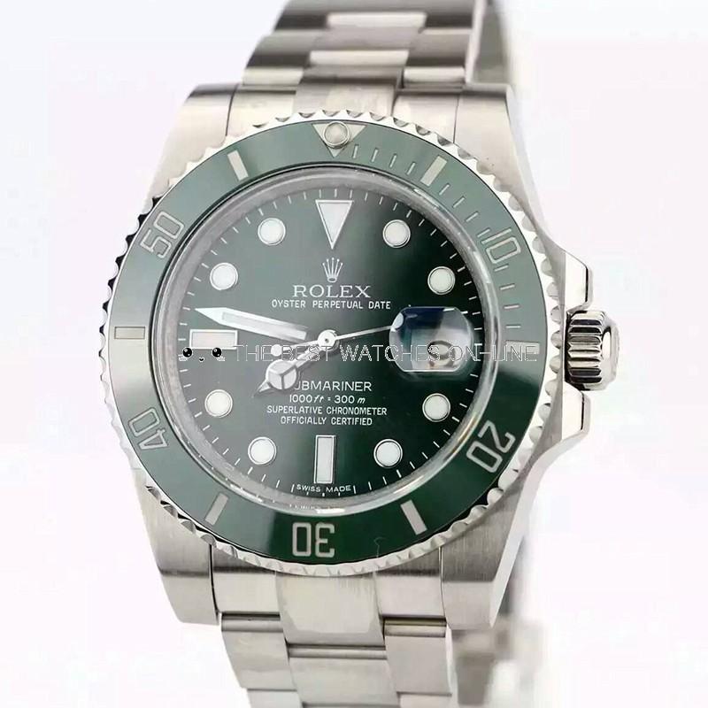 Rolex Submariner Date Swiss ETA3135 Automatic Watch Green Dial (Super Model)