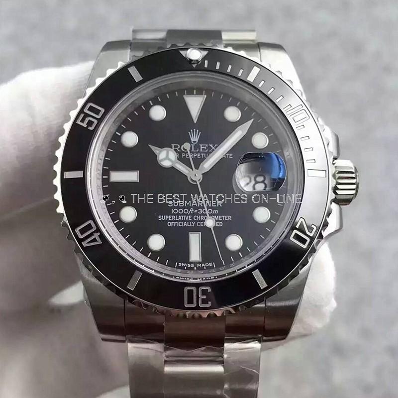 Swiss Rolex Submariner 116610LN Black Dial 3135 Automatic Replica (Super Model)