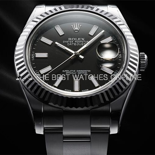 Rolex Datejust II Swiss Replica Watch126334-0017 Black Dial 41mm (High End)