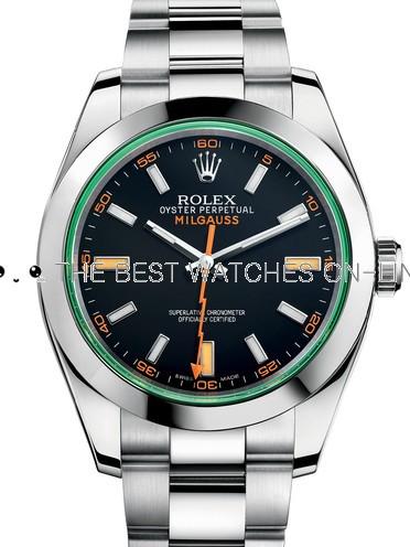 Rolex Milgauss Swiss Replica Watch 116400GV-0001 Black Dial 40mm (High End)