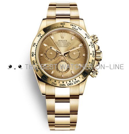 Replica Rolex Daytona Watches Swiss Automatic 116508-0003 Gold Dial 40mm (High End)