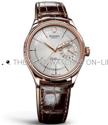 Rolex Cellini Swiss Automatic Watch Rose Gold 50515-0008 Silver White Dial 39mm (High End)