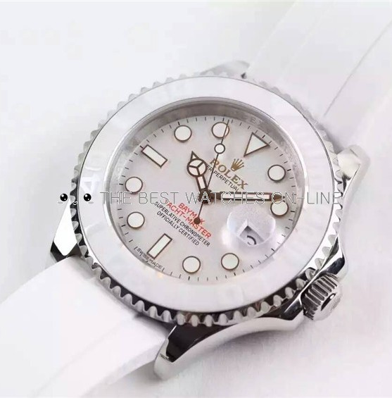 Rolex BayMax Yacht-Master Swiss Automatic Watch Full White (High End)