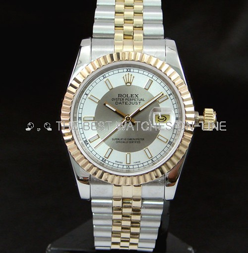 Replica Rolex Datejust Automatic Watch White & Gray Dial 36mm