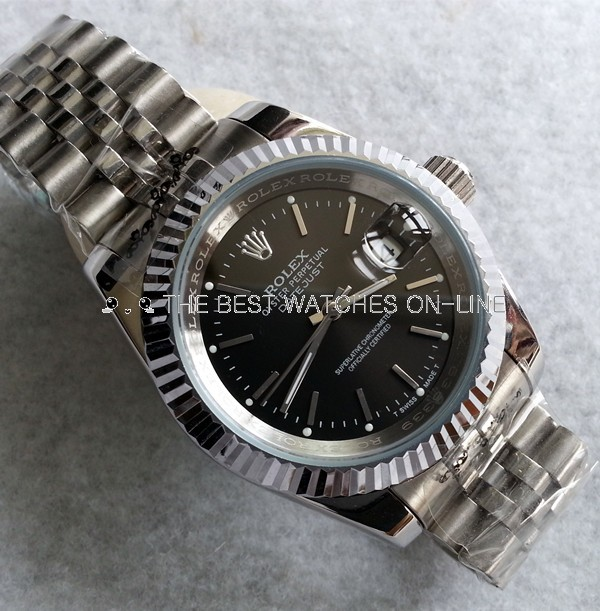 Replica Rolex Datejust II Automatic Watch Stick Marker Black Dial 41mm