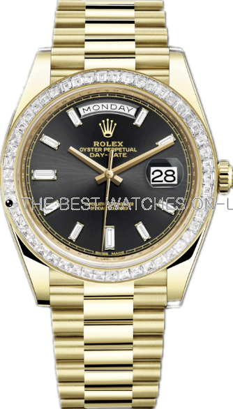 Replica Rolex Day-Date II Swiss Automatic 228398tbr-0001 Black Dial 40mm (High End)