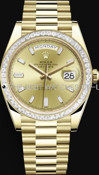 Replica Rolex Day-Date II Swiss Automatic 228398tbr-0002 Gold Dial 40mm (High End)