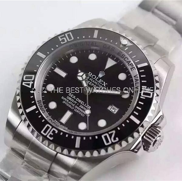 Swiss Rolex Deepsea Sea-Dweller Diamond 43mm Automatic Replica Watch (Super Model)