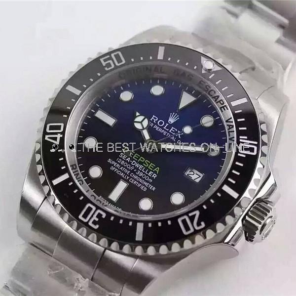 Rolex Deepsea Sea-Dweller Swiss ETA3135 Replica Watch D-Blue Dial (Super Model)