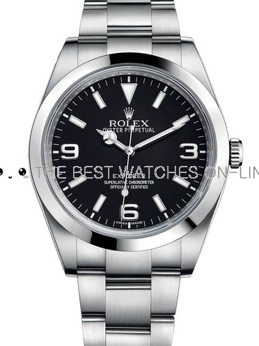 Rolex Explorer Swiss Replica Watch Black Dial 40mm (High End)
