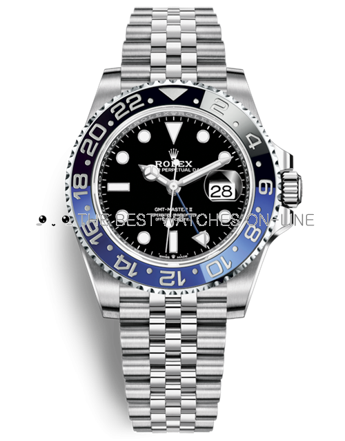 Rolex GMT-Master II Automatic Replica Watches 126710blnr-0002 Black Dial