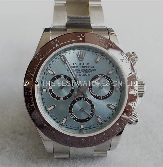 Replica Rolex Daytona Swiss Automatic 116506-0001 Ice Blue Dial 40mm (High End)