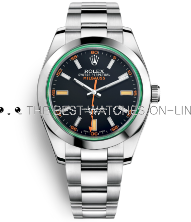 Replica Rolex Milgauss Automatic Watch 116400GV-0001 Black Dial 40mm