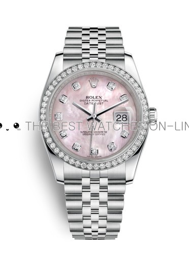 Replica Rolex Datejust Swiss Watches 116244-0013 Pink Mop 36mm (High End)