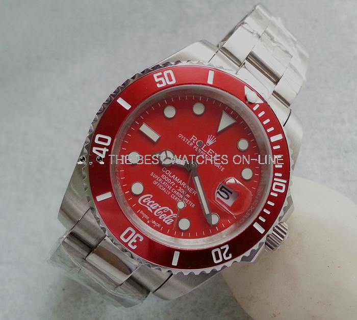Rolex Submariner Replica Watches Limited Coca Cola EditionRed Dial Red Bezel