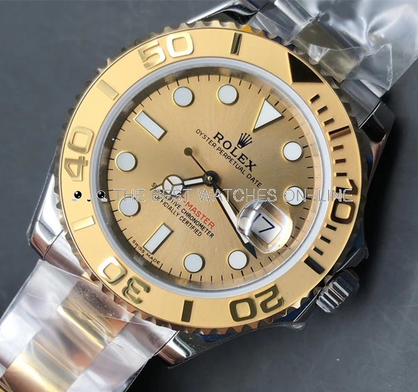 Rolex Yacht-Master 168623 Gold dial Unisex Automatic Replica Watch