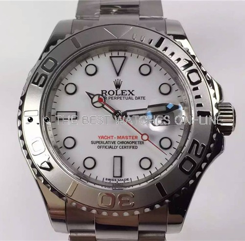 Rolex Yacht-Master Swiss Automatic Watch White Dial (High End)