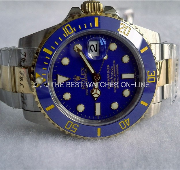 Swiss Rolex Submariner Blue Dial Two Toned Automatic Replica (High End)