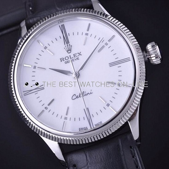 Rolex Cellini Time Automatic Replica Watch White Dial 39mm