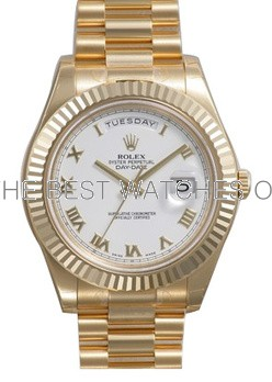 Rolex Day-Date II 218238 18K Gold White dial Men Automatic Replica Watch