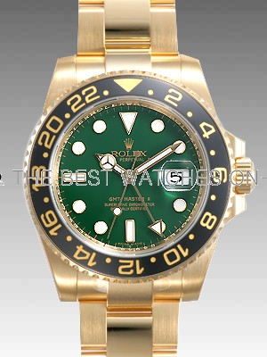 Rolex GMT-Master II 116718LN Gold Green dial Men Automatic Replica Watch