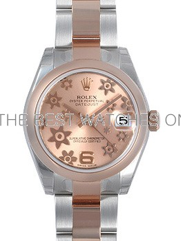 Swiss Rolex Datejust Ladies 178241 Pink dial with Flower bugling Automatic Replica Watch