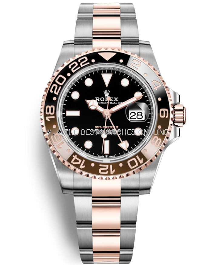 Rolex GMT-Master II Swiss Replica Watch 126711chnr-0002 Black Brown Bezel(Super Model)