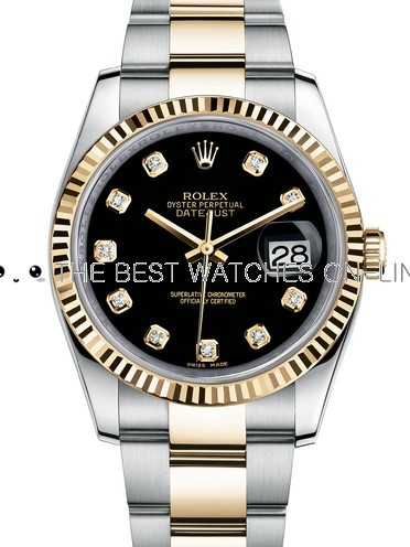 Rolex Datejust Automatic Watch Two Toned 116233-0175 36MM