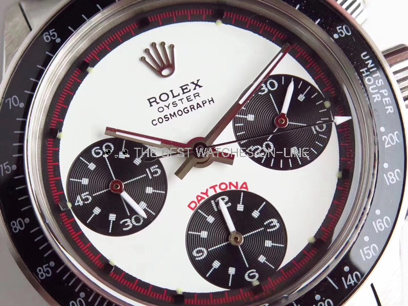 Swiss Rolex Daytona Replica Watches SS Shallow blue Dial Red Inner Meter SS band (High End)