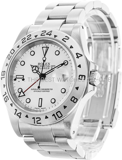 Rolex Explorer II Swiss Cal.3187 Replica Watch 16570-0002 White 40mm (Super Model)